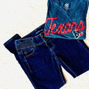 Blue Spice Dark Distressed Kids Jeans